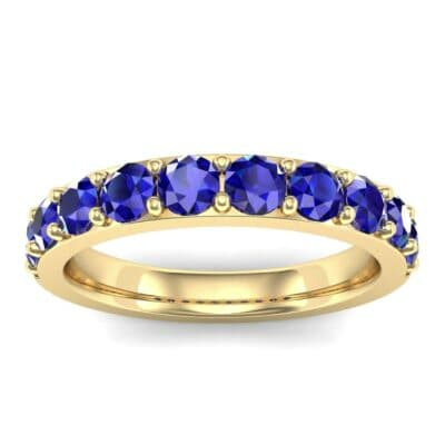 Wide Surface Prong Set Blue Sapphire Ring (1.19 Carat)