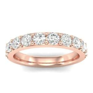 Wide Surface Prong Set Diamond Ring (0.9 Carat)
