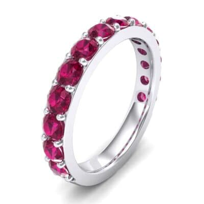 Wide Surface Prong Set Ruby Ring (1.67 Carat)