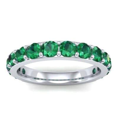 Wide Surface Prong Set Emerald Ring (1.67 Carat)