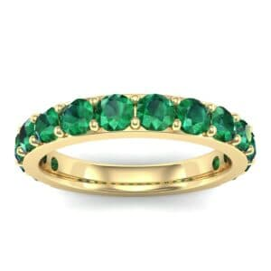 Wide Surface Prong Set Emerald Ring (1.67 Carat)
