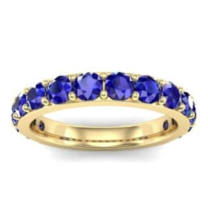 Wide Surface Prong Set Blue Sapphire Ring (1.67 Carat)