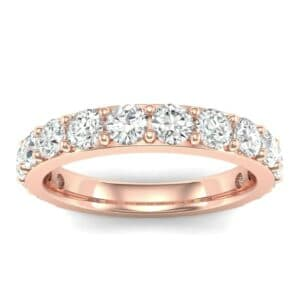 Wide Surface Prong Set Diamond Ring (1.26 Carat)