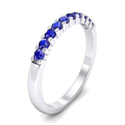 Thin Shared Prong Blue Sapphire Ring (0.46 Carat)