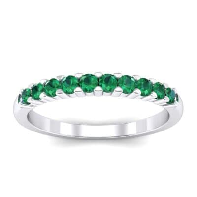 Thin Shared Prong Emerald Ring (0.46 Carat)