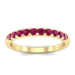 Thin Shared Prong Ruby Ring (0.46 Carat)