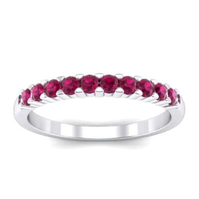Thin Shared Prong Ruby Ring (0.46 Carat)