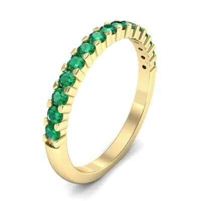 Thin Shared Prong Emerald Ring (0.69 Carat)