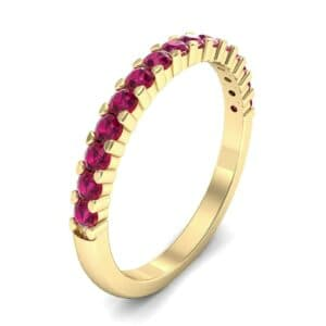 Thin Shared Prong Ruby Ring (0.69 Carat)