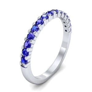 Thin Shared Prong Blue Sapphire Ring (0.69 Carat)