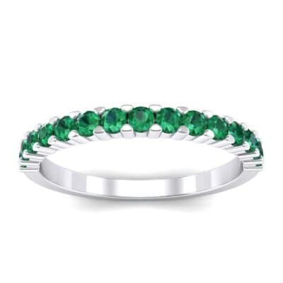 Thin Shared Prong Emerald Ring (0.69 Carat)