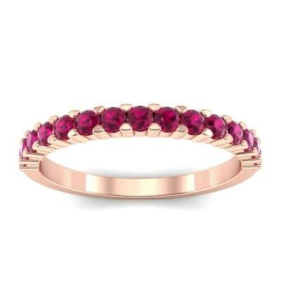 Thin Shared Prong Ruby Ring (0.69 Carat)