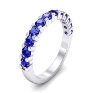 Shared Prong Blue Sapphire Ring (1.01 Carat)