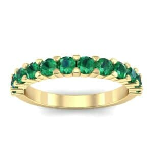 Shared Prong Emerald Ring (1.01 Carat)
