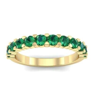 Shared Prong Emerald Ring (1.01 Carat)