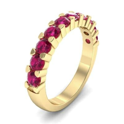 Wide Shared Prong Ruby Ring (1.37 Carat)