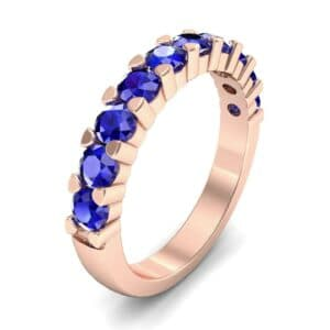 Wide Shared Prong Blue Sapphire Ring (1.37 Carat)