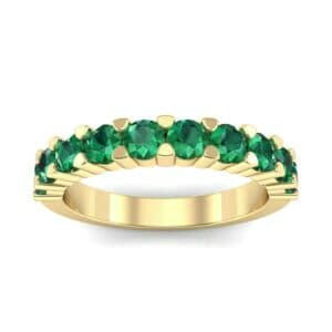 Wide Shared Prong Emerald Ring (1.37 Carat)