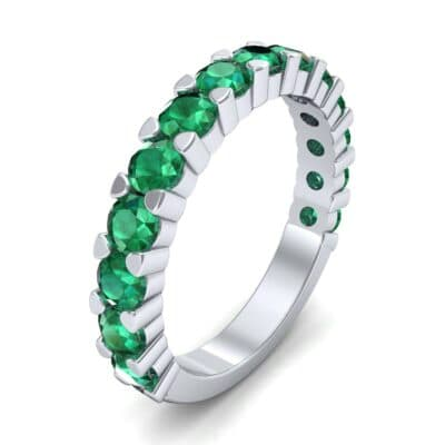 Wide Shared Prong Emerald Ring (1.92 CTW)