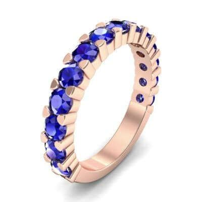 Wide Shared Prong Blue Sapphire Ring (1.92 CTW)
