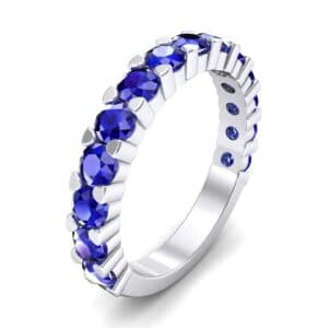 Wide Shared Prong Blue Sapphire Ring (1.92 Carat)