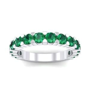 Wide Shared Prong Emerald Ring (1.92 Carat)