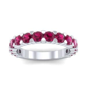 Wide Shared Prong Ruby Ring (1.92 Carat)