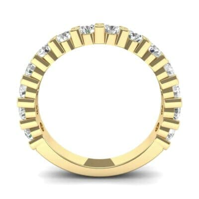 Wide Shared Prong Diamond Ring (1.4 CTW) Side View