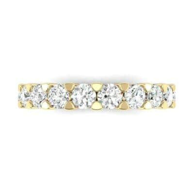 Wide Shared Prong Diamond Ring (1.4 CTW) Top Flat View