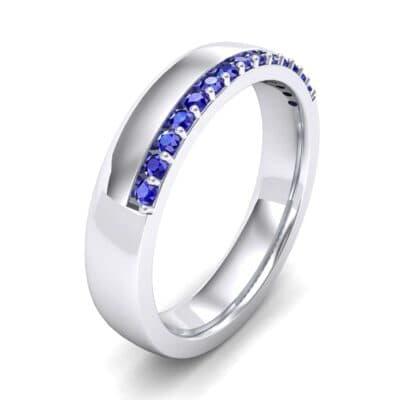Illusion-Set Blue Sapphire Ring (0.02 Carat)