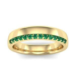 Illusion-Set Emerald Ring (0.02 Carat)