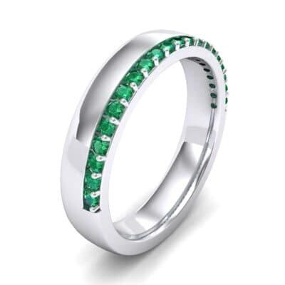 Illusion-Set Emerald Ring (0.3 Carat)