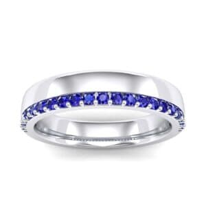 Illusion-Set Blue Sapphire Ring (0.3 Carat)