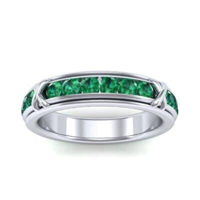 Crosses Channel-Set Emerald Eternity Ring (2.31 Carat)