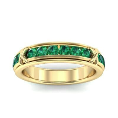 Crosses Channel-Set Emerald Eternity Ring (2.31 Carat)