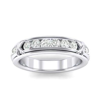 Crosses Channel-Set Diamond Eternity Ring (0.84 Carat)