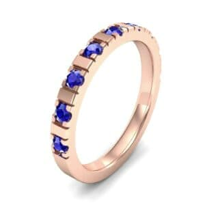 Barre Blue Sapphire Ring (0.42 Carat)