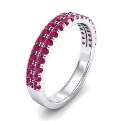 Double-Row Ruby Ring (0.76 Carat)
