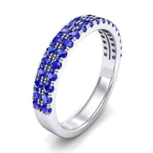 Double-Row Blue Sapphire Ring (0.76 Carat)