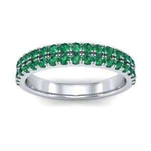 Double-Row Emerald Ring (0.76 Carat)