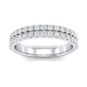 Double-Row Diamond Ring (0.61 Carat)