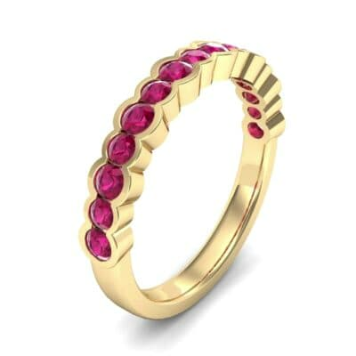 Contoured Channel-Set Ruby Ring (0.58 Carat)
