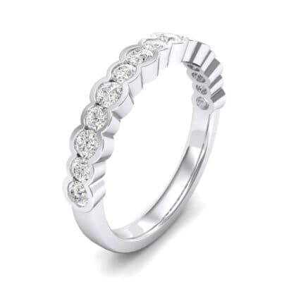 Contoured Channel-Set Diamond Ring (0.4 Carat)