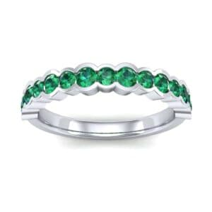 Contoured Channel-Set Emerald Ring (0.58 Carat)