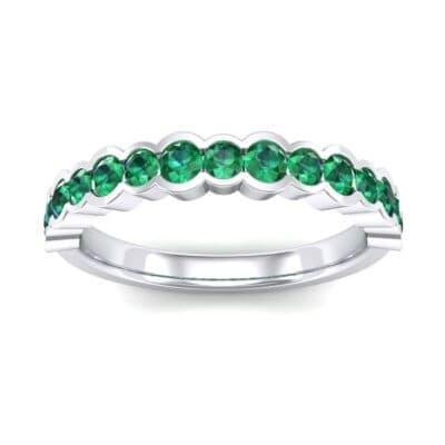 Contoured Channel-Set Emerald Ring (0.58 Carat)