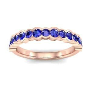 Contoured Channel-Set Blue Sapphire Ring (0.58 Carat)