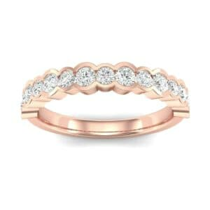 Contoured Channel-Set Diamond Ring (0.4 Carat)