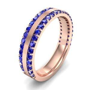 Double Blue Sapphire Edge Ring (1.04 Carat)