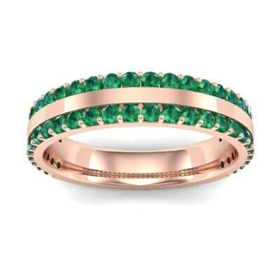 Double Emerald Edge Ring (1.04 Carat)