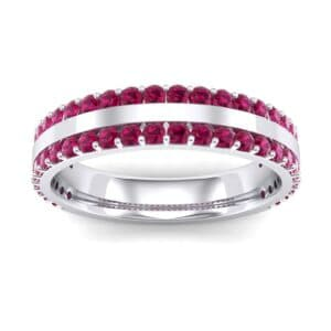 Double Ruby Edge Ring (1.04 Carat)